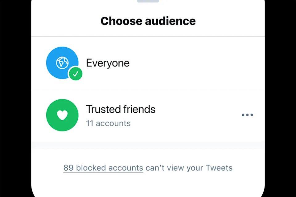 Twitter тестирует новую функцию, которая позволит делиться твитами только с близкими друзьями