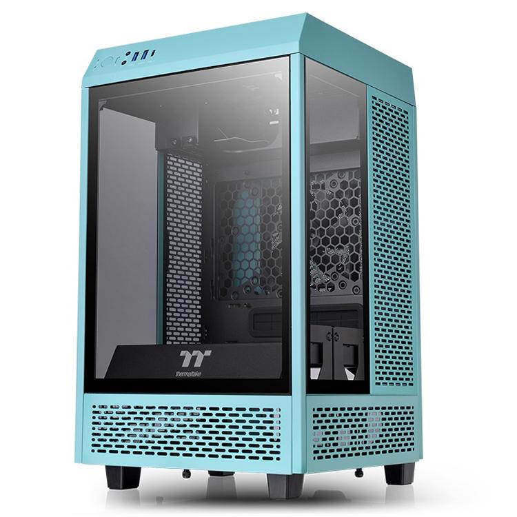 Корпус Thermaltake The Tower 100 Turquoise для компактного ПК примерил бирюзовый цвет