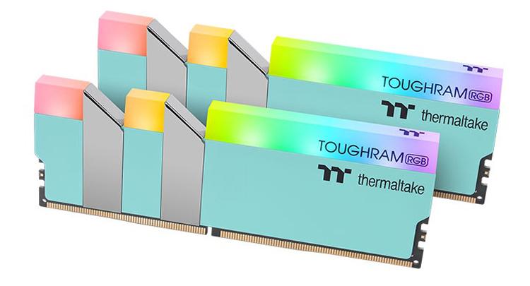 Thermaltake представила новые модули памяти ToughRAM RGB в необычном цветовом исполнении