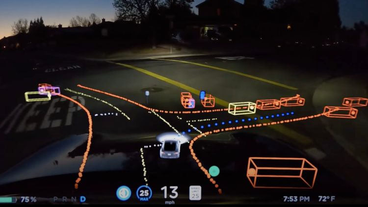 """Обновлённый интерфейс Tesla более наглядно покажет водителям, как работает автопилот"""""""