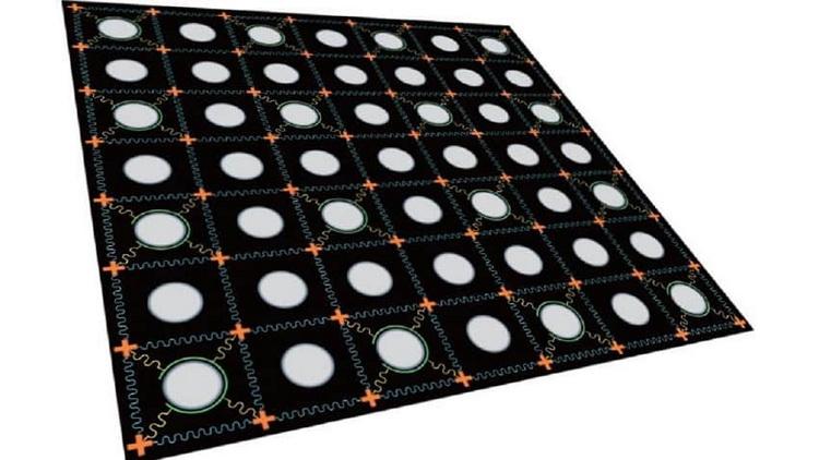 Схема двумерного сверхпроводящего кубита-чипа (Изображение: Университет науки и технологий Китая)