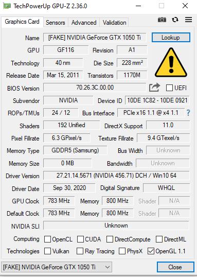 На Ozon появились в продаже поддельные GeForce GTX 1050 Ti, но их быстро убрали