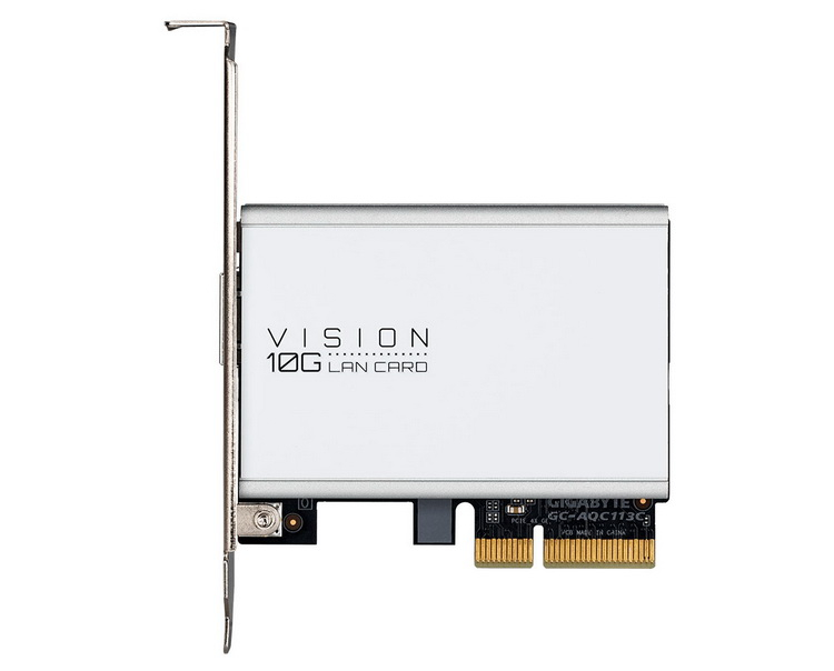 "Gigabyte представила 10-гигабитный сетевой адаптер Vision 10G LAN Card в формате карты PCIe x4"""