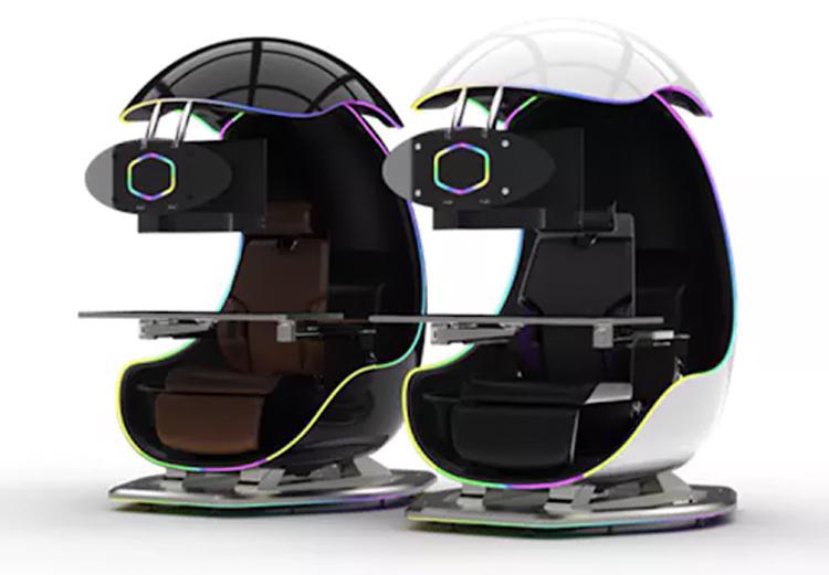 Cooler Master представила игровое кресло CMIX GamePod с тремя мониторами и встроенным ПК