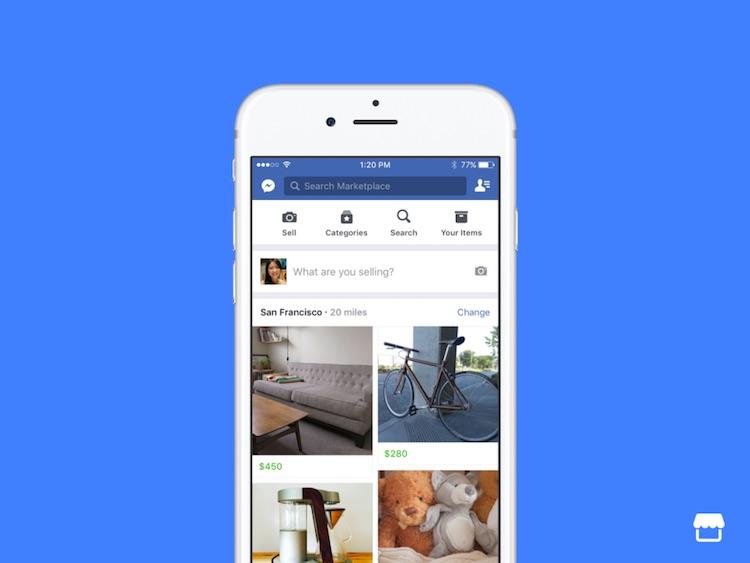 Facebook запустил в России торговую площадку Marketplace