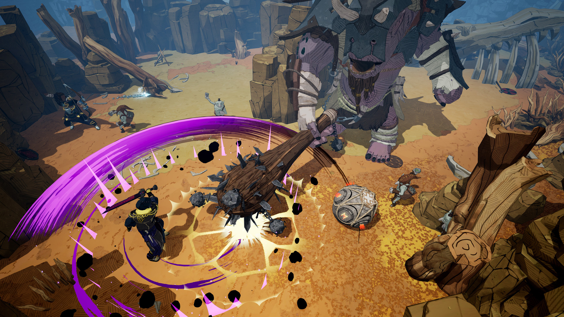 Видео: сражения с разнообразными великанами в геймплейной демонстрации Tribes of Midgard