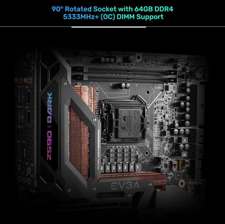 EVGA выпустила 600-долларовую плату Z590 Dark для экстремального разгона Intel Rocket Lake-S