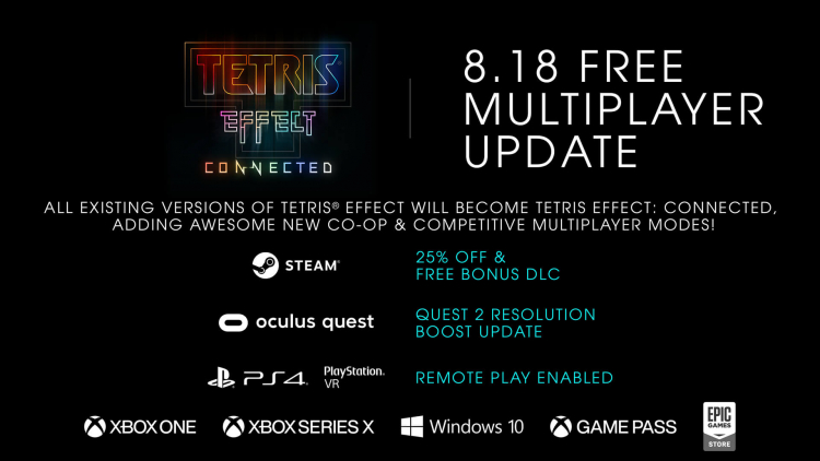 Многопользовательская головоломка Tetris Effect: Connected доберётся до Steam, EGS и PS4 в следующем месяце