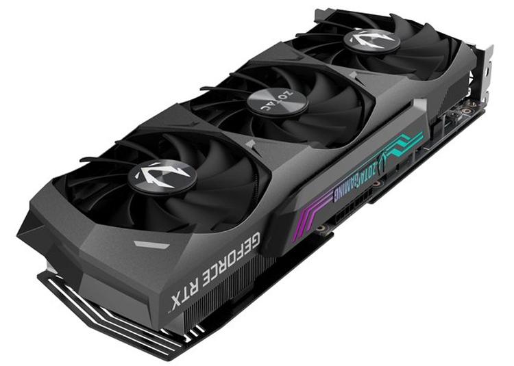 Zotac представила видеокарту GeForce RTX 3070 Ti Trinity с подсветкой Spectra 2.0 RGB