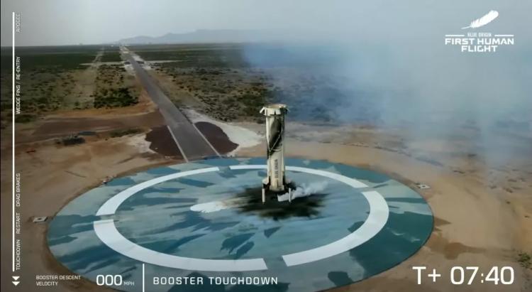 Первый туристический полёт в космос Blue Origin в качественных фотографиях5