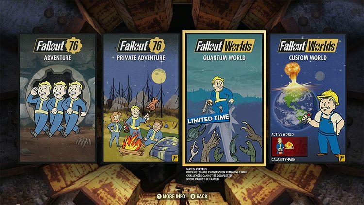 В Fallout 76 запустилась система Fallout Worlds, позволяющая создавать собственные миры