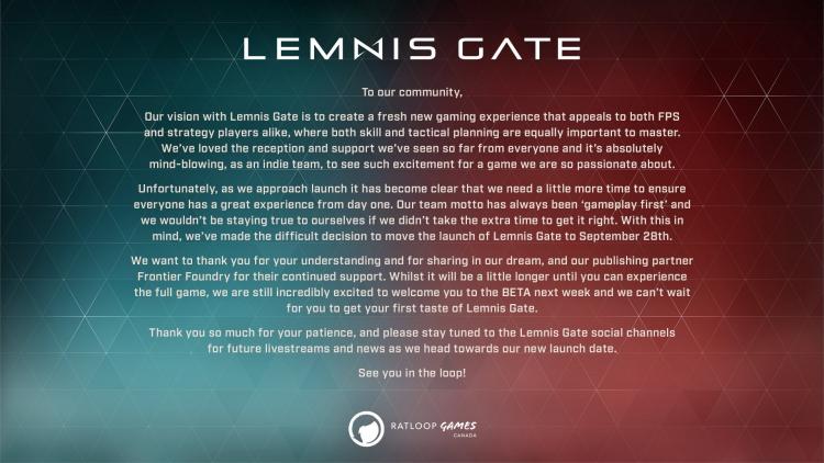 Релиз пошагового стратегического шутера Lemnis Gate отложили почти на два месяца