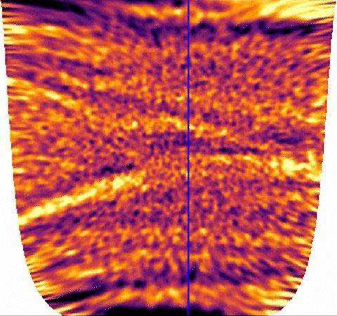 Выявленная из шумов термальная сигнатура облаков на ночной стороне Венеры. Источник изображения: JAXA/Imamura