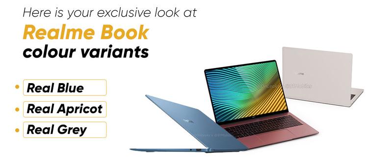 Тонкий ноутбук Realme Book показался на изображениях в разных цветах
