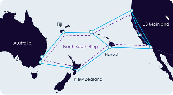 Нынешняя сеть Southern Cross
