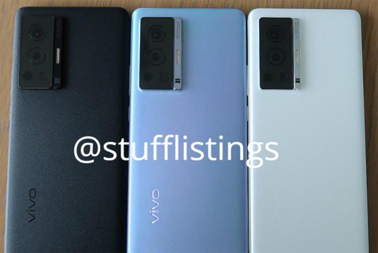 Шпионское фото, предположительно, одного из смартфонов Vivo X70 / @stufflistings
