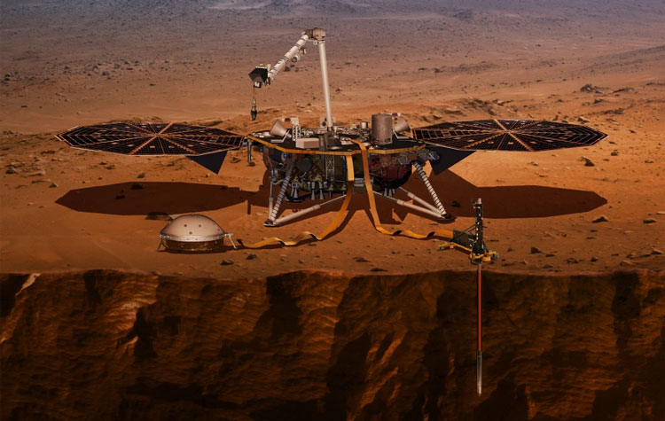 Зонд InSight в представлении художника. Источник изображения: NASA