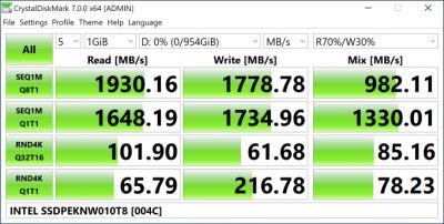 Intel SSD 660p 1 Тбайт