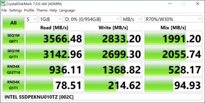 Intel SSD 670p 1 Тбайт