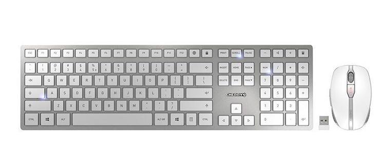 Cherry представила комплект DW 9100 Slim из беспроводной клавиатуры и мыши с элегантным дизайном