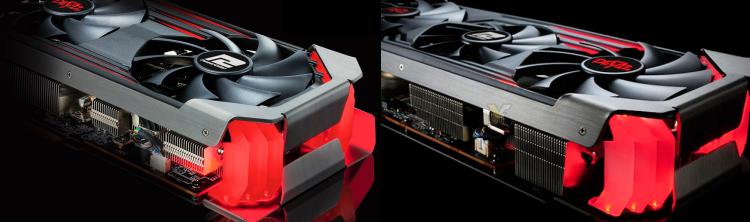 Radeon RX 6600 XT слева и Radeon RX 6700 XT справа в исполнении PowerColor Red Devil