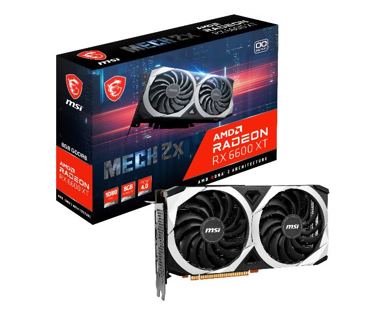 MSI представила собственные версии ускорителей AMD Radeon RX 6600 XT