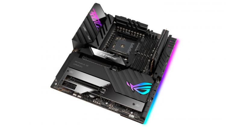 ASUS представила флагманскую плату ROG Crosshair VIII Extreme с пассивным охлаждением чипсета AMD X570