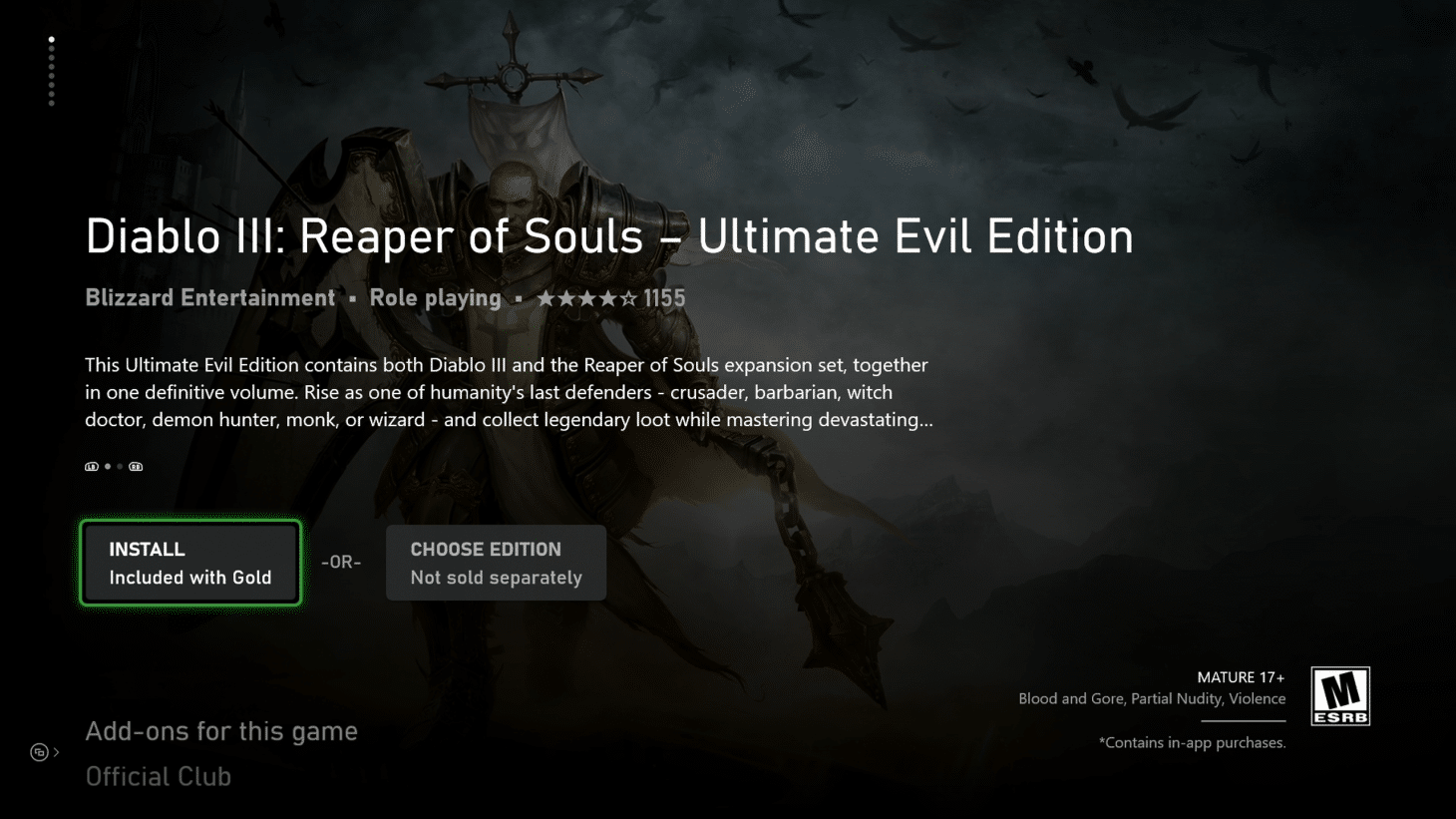 Diablo III: Reaper of Souls  Ultimate Evil внезапно стала бесплатной на Xbox для подписчиков Live Gold