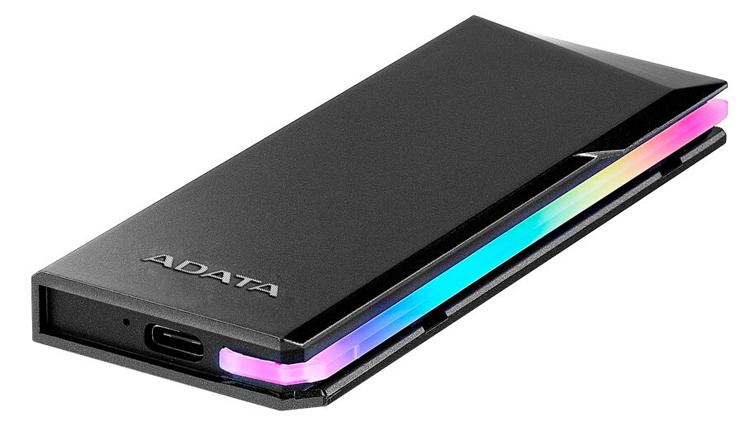 Корпус ADATA EC700G позволит превратить накопитель М.2 вовнешний SSD с подсветкой