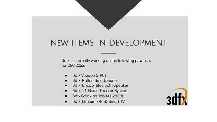 Тролли из новой 3dfx пообещали представить видеокарту Voodoo 6 на CEC 2022(где!?)3