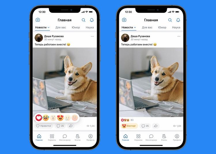«ВКонтакте»  добавила новые реакции помимо классических «лайков»