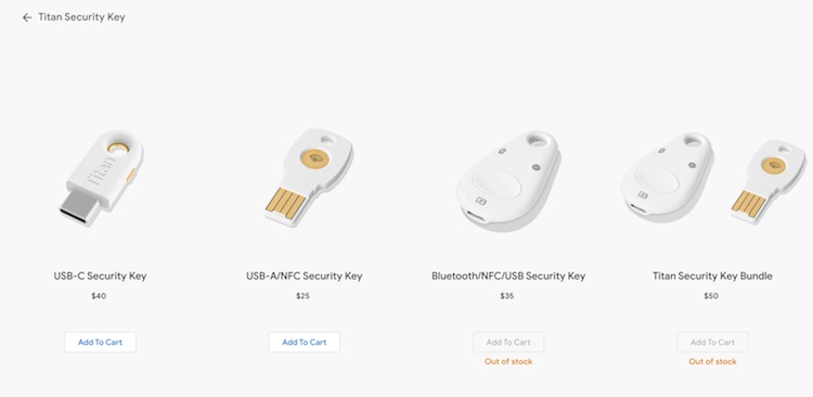 Google представила ключ безопасности Titan с USB Type-C и NFC1
