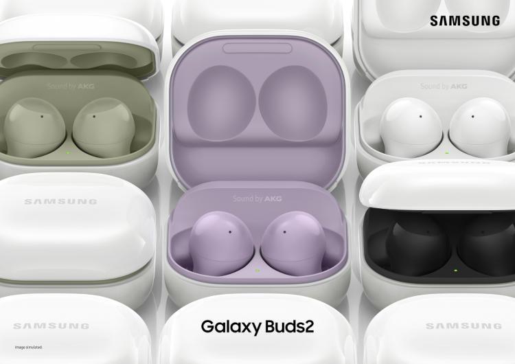 Представлены беспроводные наушники Samsung Galaxy Buds 2 с активным шумоподавлением и ценой 11 тыс. рублей