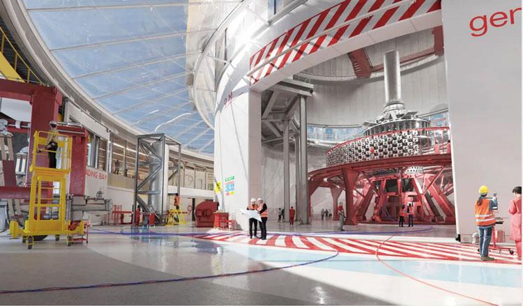 Площадка с реакторов в представлении художника. Источник изображения: General Fusion