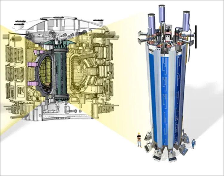 Соленоид в составе реактора. Источник изображения: General Atomics