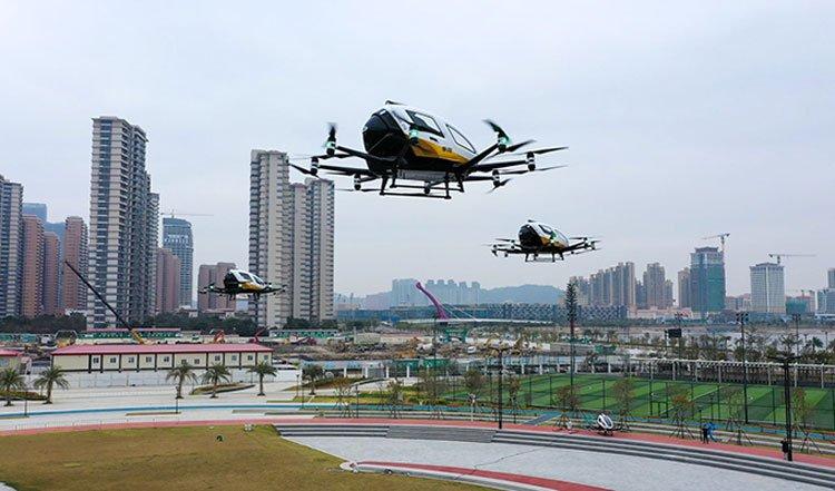 Производитель беспилотных аэротакси EHang показал на видео работу нового завода в Китае