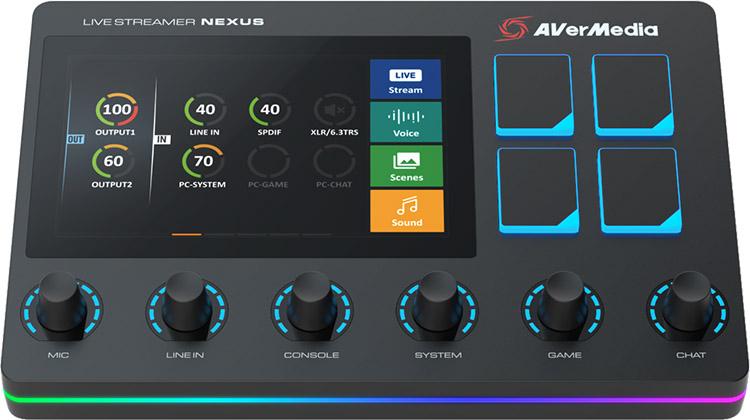 Предложение к началу учебного года: AVerMedia Live Streamer NEXUS объединяет функции центра управления и аудио микшера