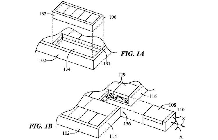 Apple запатентовала клавиатуру для MacBook со съёмной кнопкой, которая может работать как мышь