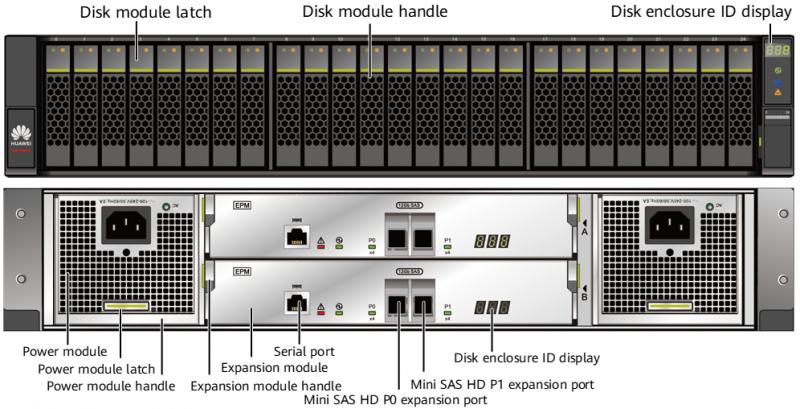 Дисковая полка Huawei OceanProtect X8000/X9000