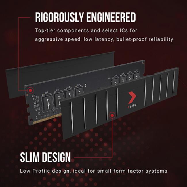 PNY представила низкопрофильные модули DDR4-памяти XLR8 Gaming с частотой до 3600 МГц