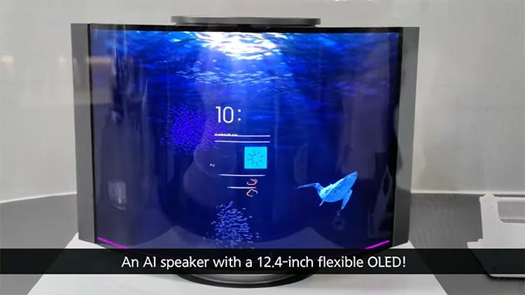Samsung показала умный динамик с разгибающимся 12,4-дюймовым экраном