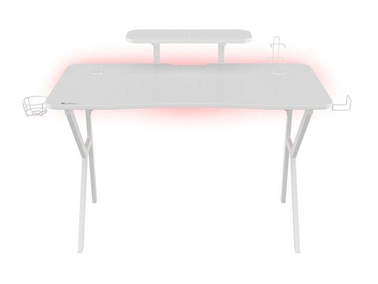 Genesis анонсировала игровой стол HOLM 320 RGB White с подсветкой