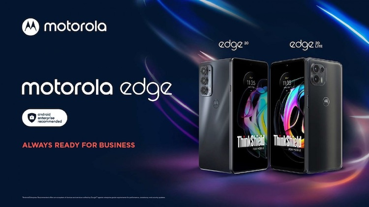 Motorola представила смартфоны Edge 20 Business Edition и Edge 20 Lite Business Edition с повышенной безопасностью