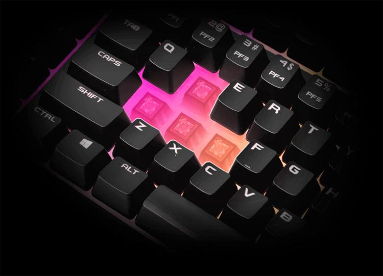 Представлена игровая клавиатура EVGA Z12 с защитой от брызг