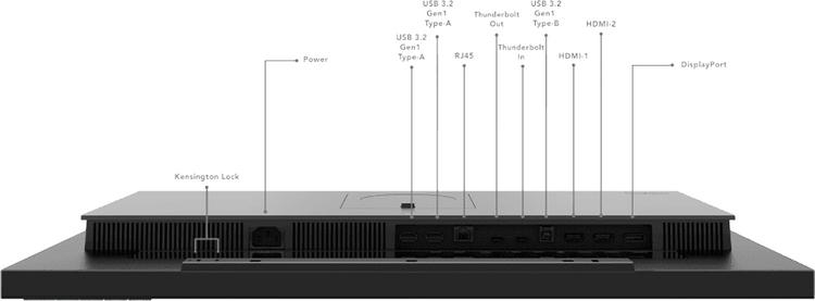 Lenovo представила профессиональный монитор ThinkVision P27u-20 с поддержкой Thunderbolt 4