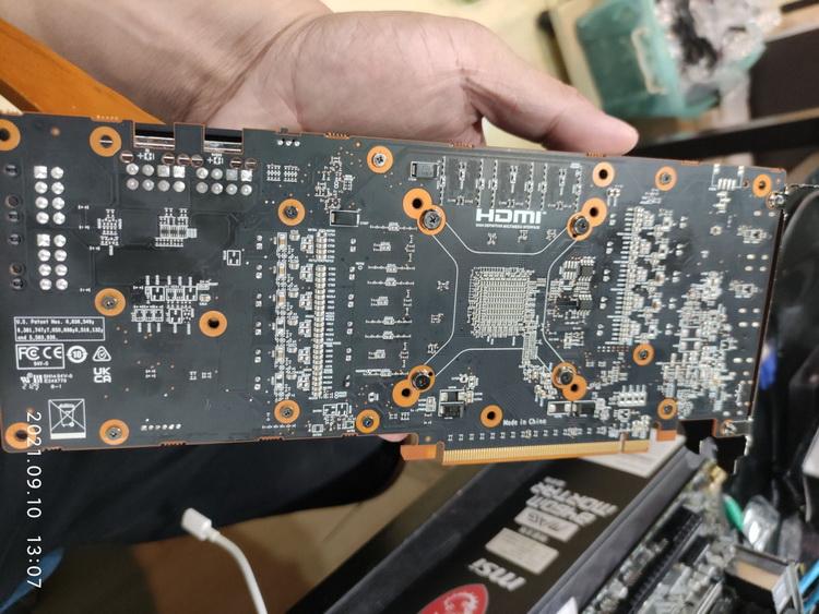 Ещё одна загадочная видеокарта AMD для майнинга показалась на фото — на этот раз с Navi 22