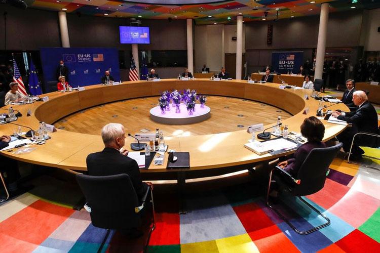 Июньский саммит в Брюсселе по вопросам безопасности с президентом США Джозефом Байденом (крайний справа). Источник изображения: