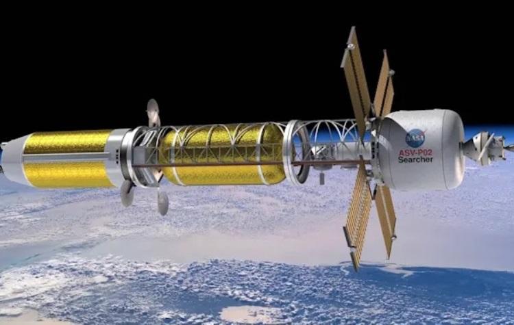Концепт космического корабля NASA с ядерным двигателем / Изображение: NASA
