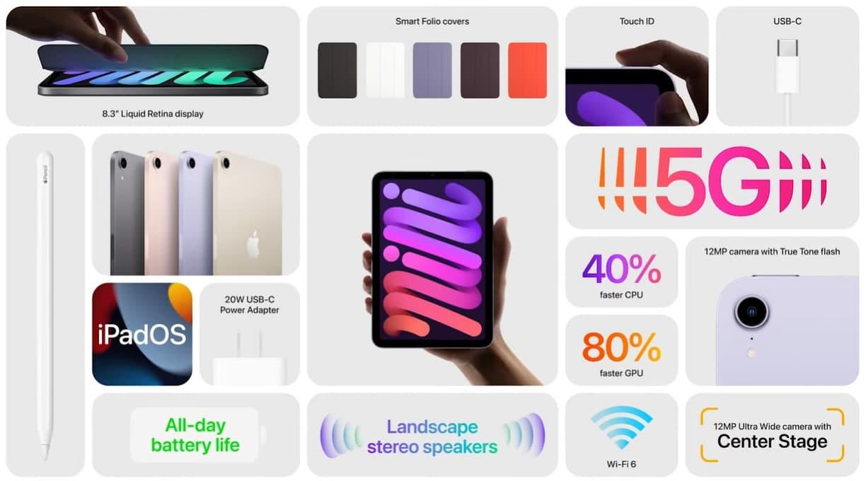 Apple представила новый iPad Mini  увеличенный экран, поддержка 5G и Apple Pencil