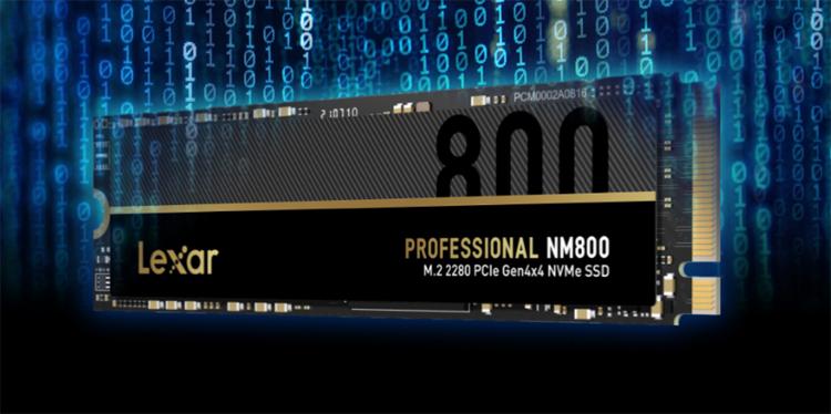 Lexar выпустила накопители Professional NM800 со скоростью чтения до 7400 Мбайт/с